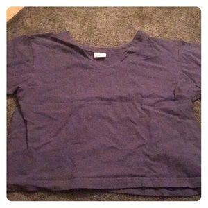 Tops - Purple Pacific Cotton Short Sleeve Shirt